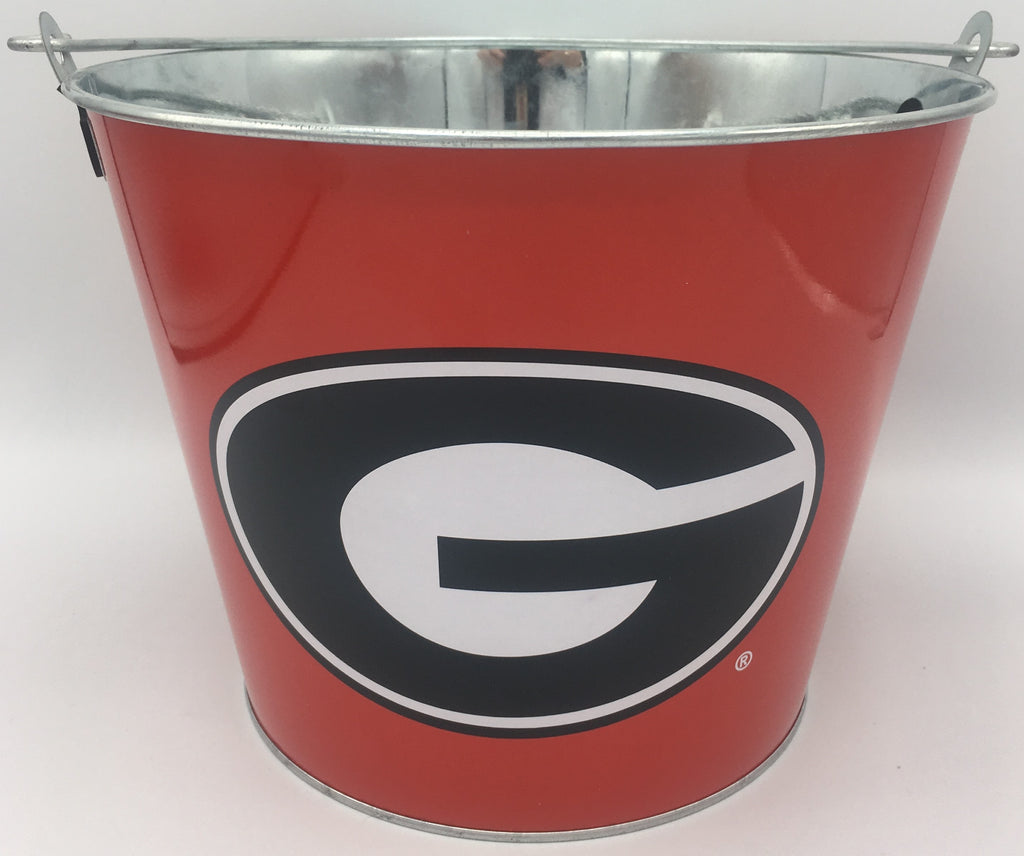 NCAA Aluminum Beer Bucket 5 QT Drink Party Ice Metal Pail - Choose Your Team