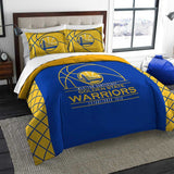 GOLDEN STATE WARRIORS FULL/QUEEN PRINTED COMFORTER AND SHAM SET REVERSE SLAM 3PC