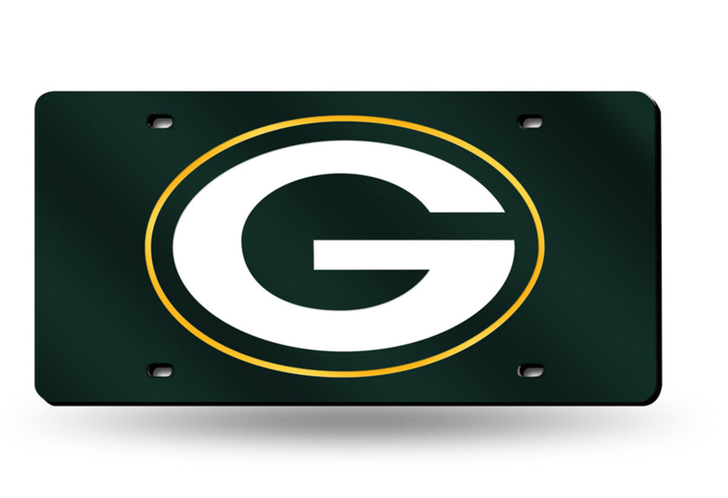 GREEN BAY PACKERS MIRROR CAR TAG LASER LICENSE PLATE GREEN SIGN LOGO NFL