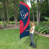 HOUSTON TEXANS 8.5 FOOT TALL TEAM FLAG 11.5' POLE SIGN BANNER 8 1/2' TAILGATE
