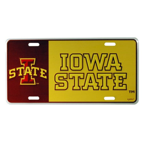 IOWA STATE CYCLONES CAR TAG