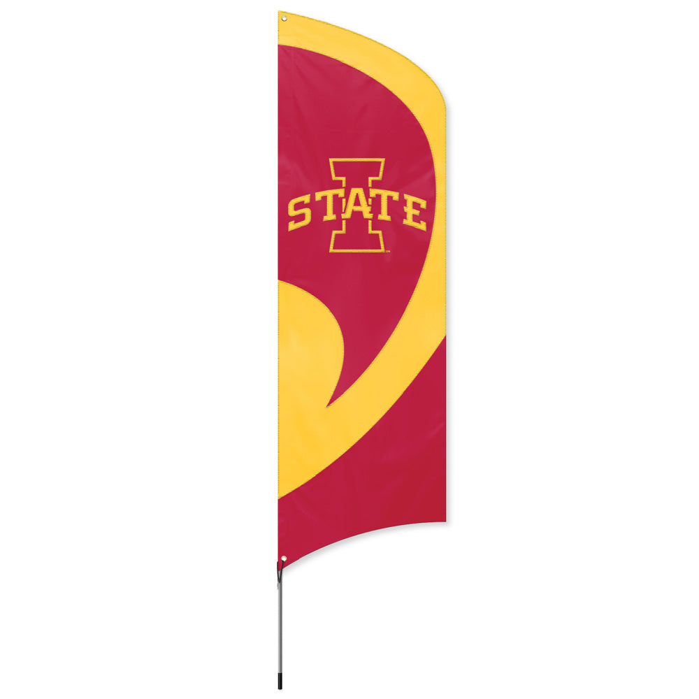 IOWA STATE CYCLONES 8.5 FOOT TALL TEAM FLAG 11.5' POLE SIGN BANNER APPLIQUE