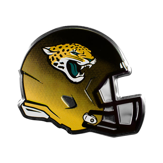 JACKSONVILLE JAGUARS COLOR TEAM HELMET EMBLEM ALUMINUM AUTO LAPTOP STICKER DECAL EMBOSSED