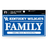 KENTUCKY WILDCATS TRUE PRIDE DECAL FAMILY BIG BLUE NATION AUTO 3