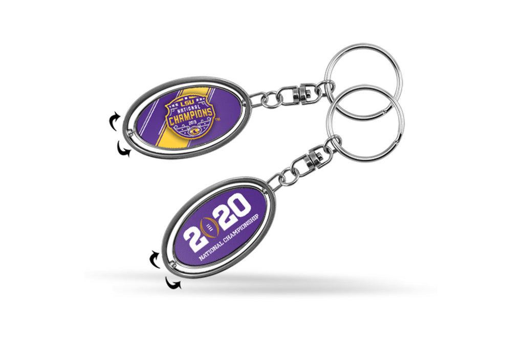 LSU Tigers 2019 National Champions Key Ring Spinner Keychain Souvenir NCAA 2020
