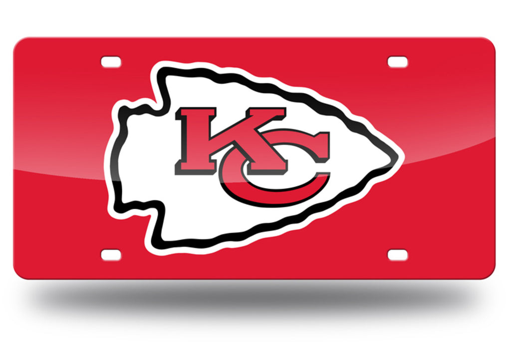 KANSAS CITY CHIEFS MIRROR CAR TAG LASER LICENSE PLATE LOGO RED SIGN NFL