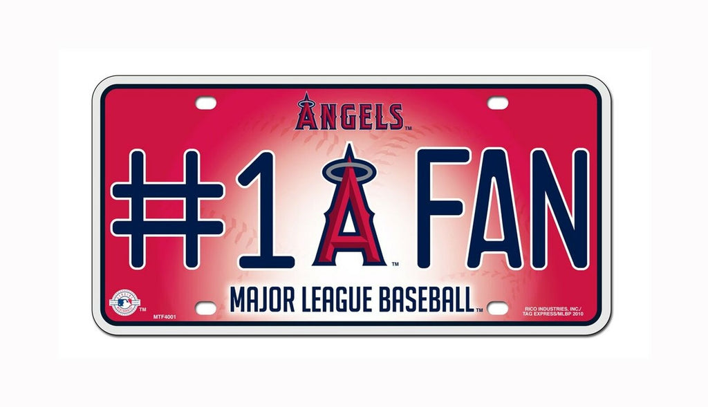 LOS ANGELES ANGELS #1 FAN CAR TRUCK TAG LICENSE PLATE MLB BASEBALL METAL SIGN