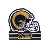 Los Angeles Rams Metal Helmet Sign 8X8 Die Cut Steel Heavy Duty