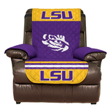 LSU Tigers Furniture Protector Cover Recliner Reversible