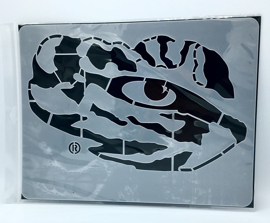 "LSU TIGERS TIGER EYE MINI STENCIL CRAFT 14.5"" X 11"" REUSABLE PROJECTS NCAA COLLEGE"