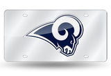 LOS ANGELES RAMS MIRROR CAR TAG LASER LICENSE PLATE LA NFL SIGN