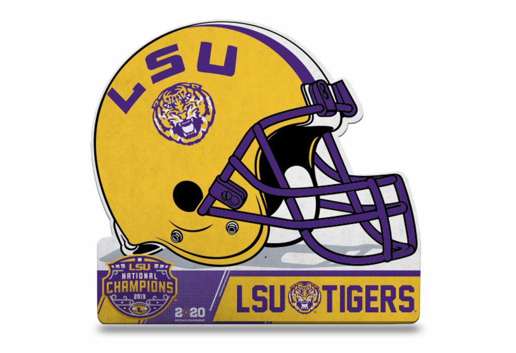 LSU Tigers 2019 National Champions Helmet Pennant