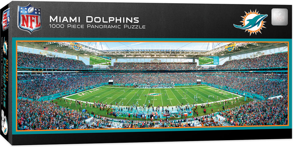 MIAMI DOLPHINS STADIUM PANORAMIC JIGSAW PUZZLE NFL 1000 PC