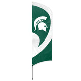 MICHIGAN STATE SPARTANS 8.5 FOOT TALL TEAM FLAG 11.5 FOOT POLE SIGN BANNER