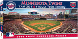 MINNESOTA TWINS PANORAMIC JIGSAW PUZZLE MLB 1000 PC TARGET FIELD TERRITORY