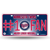 MINNESOTA TWINS #1 FAN CAR TRUCK TAG LICENSE PLATE MLB BASEBALL METAL SIGN