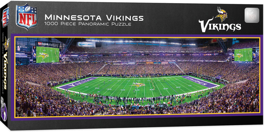 MINNESOTA VIKINGS FIELD STADIUM PANORAMIC JIGSAW PUZZLE 1000 PC NFL