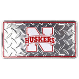 NEBRASKA CORNHUSKERS DIAMOND LICENSE PLATE