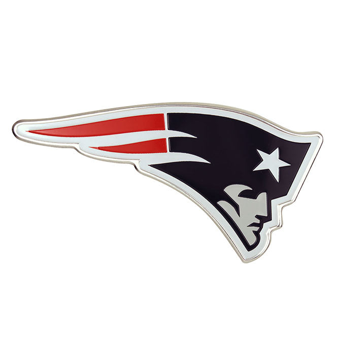 NEW ENGLAND PATRIOTS COLOR TEAM EMBLEM ALUMINUM AUTO LAPTOP STICKER DECAL EMBOSSED