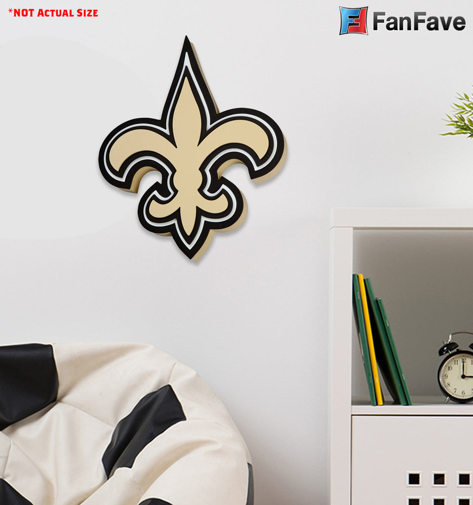 NEW ORLEANS SAINTS 3D FOAM WALL LOGO SIGN FAN MANCAVE OFFICE SPORTS ROOM