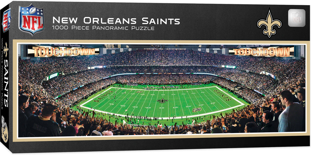 NEW ORLEANS SAINTS MERCEDES BENZ SUPERDOME PANORAMIC JIGSAW PUZZLE 1000 PC NFL