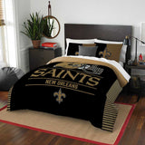 NEW ORLEANS SAINTS FULL/QUEEN COMFORTER AND SHAM 3PC SET DRAFT NORTHWEST NFL