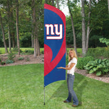 NEW YORK GIANTS 8.5 FOOT TALL TEAM FLAG 11.5' POLE SIGN BANNER NFL
