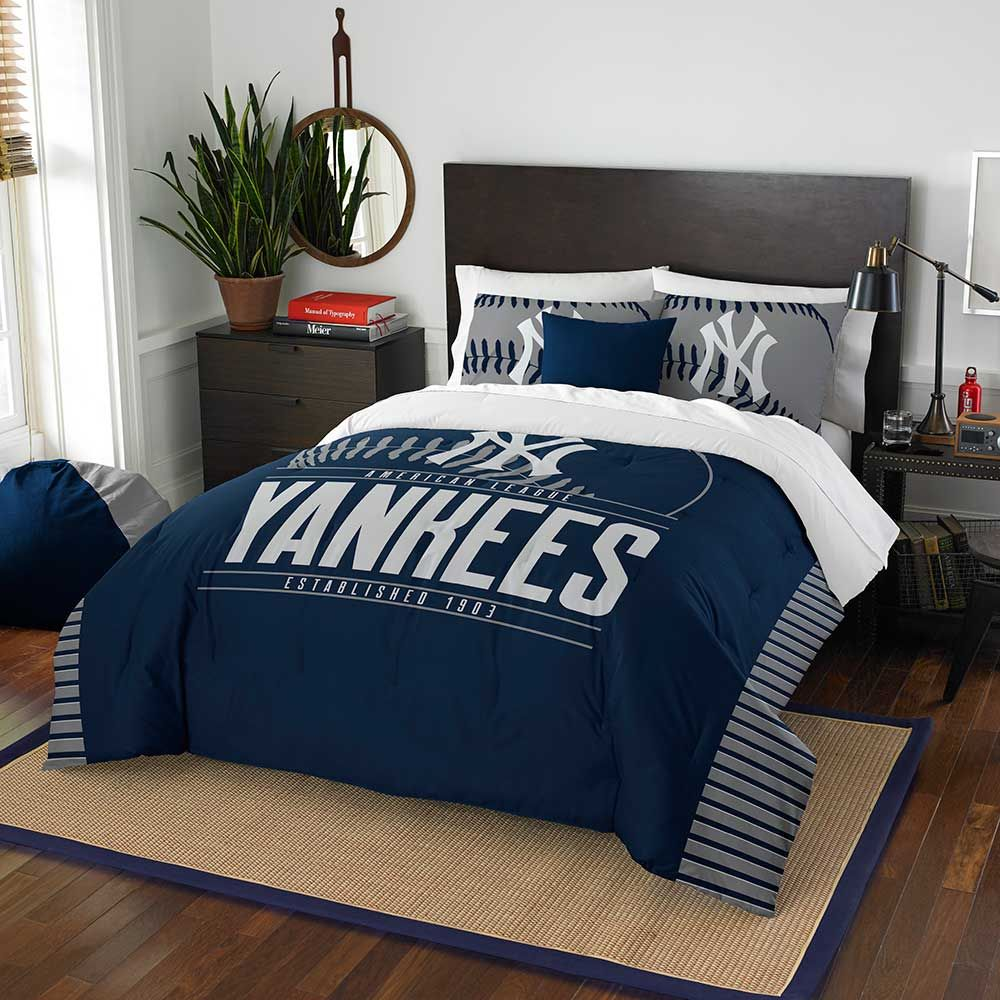 NEW YORK YANKEES FULL/QUEEN COMFORTER AND SHAM 3PC SET GRANDSLAM NORTHWEST MLB