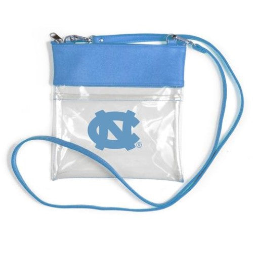 NORTH CAROLINA TAR HEELS CLEAR GAME DAY CROSSBODY BAG STADIUM APPROVED VEGAN LEATHER PURSE