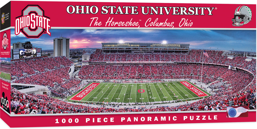 OHIO STATE BUCKEYES HORSESHOE STADIUM PANORAMIC JIGSAW PUZZLE 1000 PC NCAA