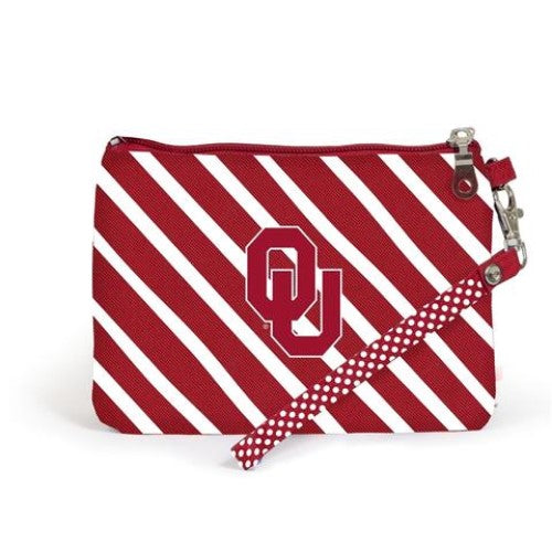 OKLAHOMA SOONERS WRISTLET STADIUM APPROVED GAMEDAY ACCESSORY ID HOLDER STRAP