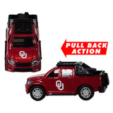OKLAHOMA SOONERS TEAM TRUCKS PULL BACK ACTION DIE CAST COLLECTIBLE UNIVERSITY TOY