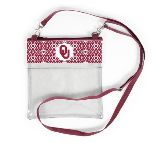 OKLAHOMA SOONERS CLEAR GAME DAY CROSSBODY BAG STADIUM APPROVED PURSE