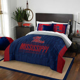 OLE MISS REBELS FULL/QUEEN COMFORTER AND SHAM 3PC SET NORTHWEST NCAA
