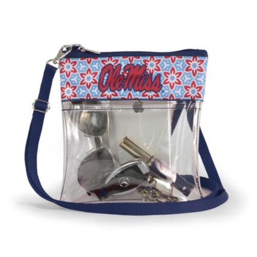 OLE MISS REBELS CLEAR GAME DAY CROSSBODY BAG UNIVERSITY OF MISSISSIPPI STADIUM