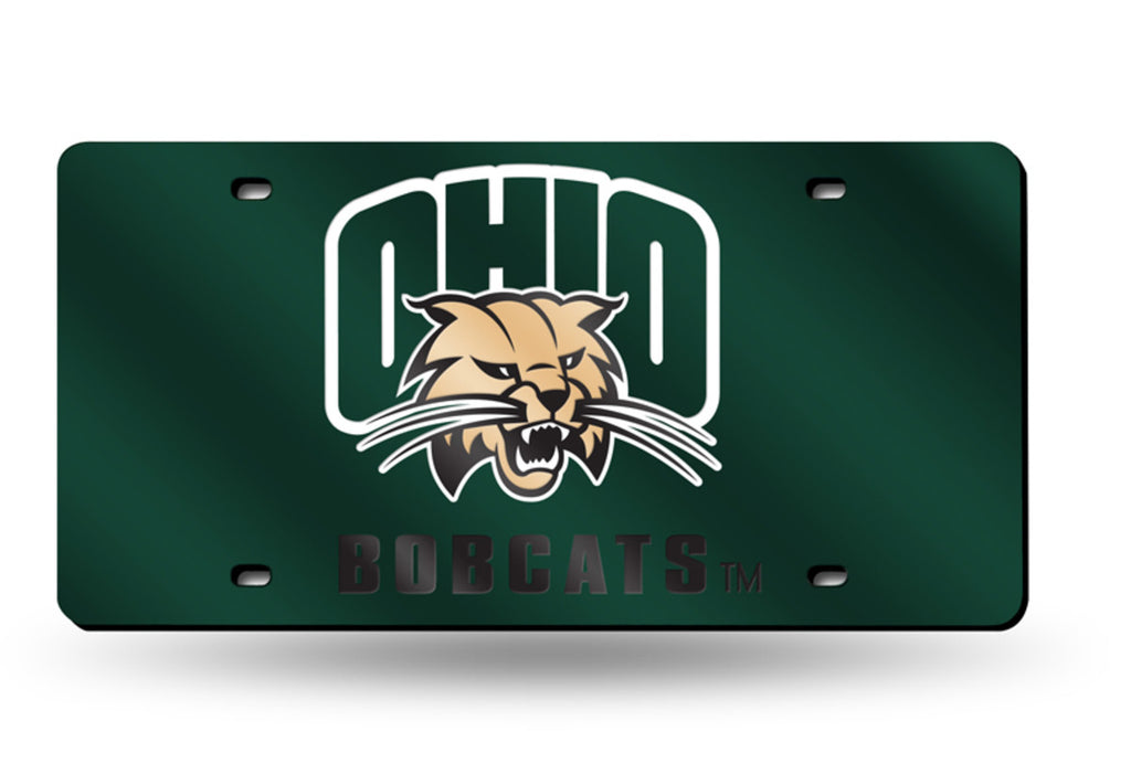 OHIO BOBCATS MIRROR CAR TAG LASER LICENSE PLATE TRUCK CAR AUTO GREEN UNIVERSITY