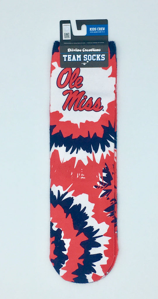 OLE MISS REBELS TEAM SOCKS NEW SUBLIMATED CREW ANKLE NCAA UNISEX PICK A SIZE COLLEGE