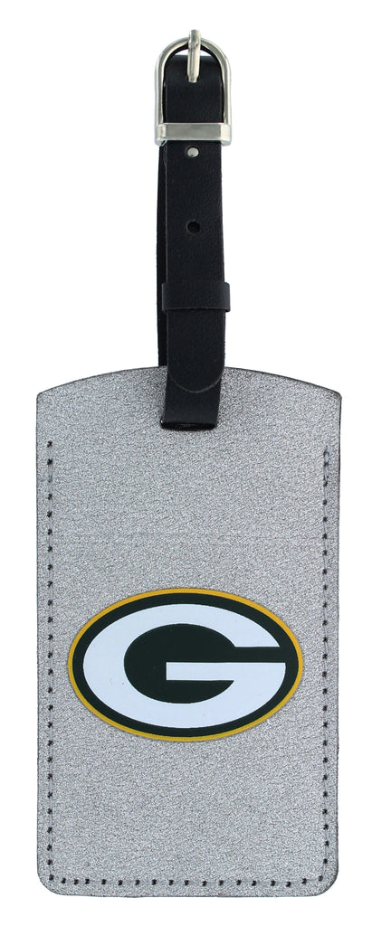 GREEN BAY PACKERS SPARKLE BAG TAG FOOTBALL LUGGAGE NFL ID INFORMATION TRAVEL
