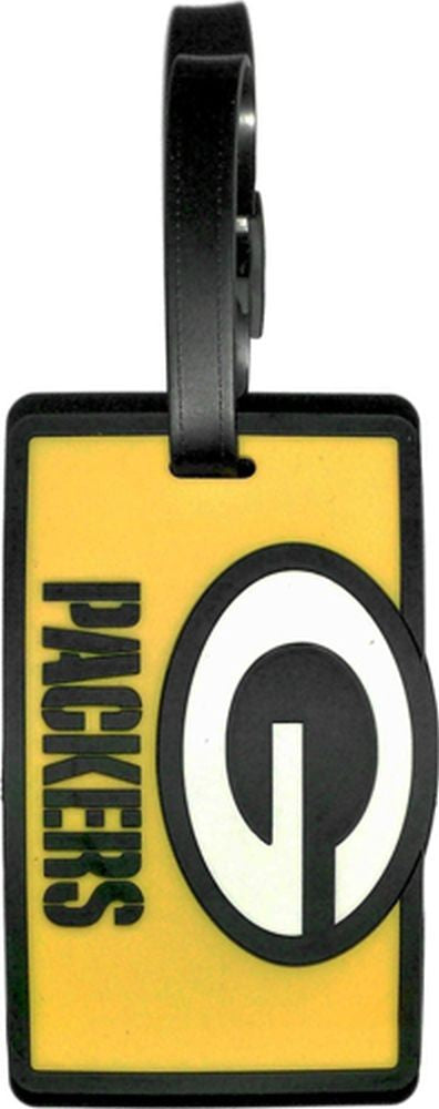GREEN BAY PACKERS SOFT BAG TAG FOOTBALL LUGGAGE NFL ID INFORMATION TRAVEL