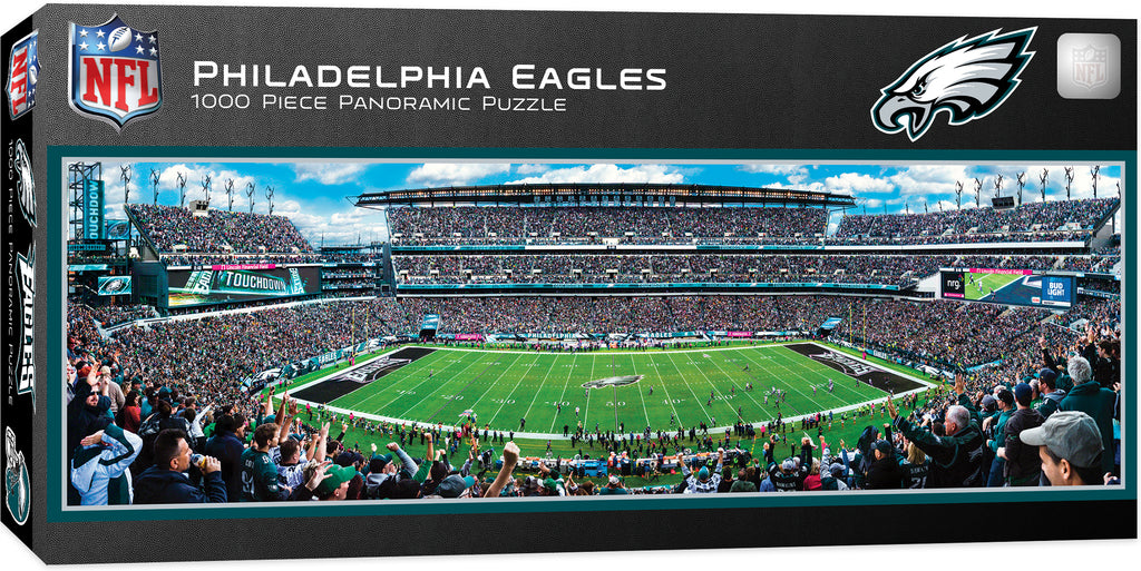 PHILADELPHIA EAGLES LINCOLN FINANCIAL FIELD PANORAMIC JIGSAW PUZZLE 1000 PC NFL