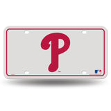 PHILADELPHIA PHILLIES RETRO RED P LOGO CAR TRUCK TAG LICENSE PLATE MLB BASEBALL METAL SIGN