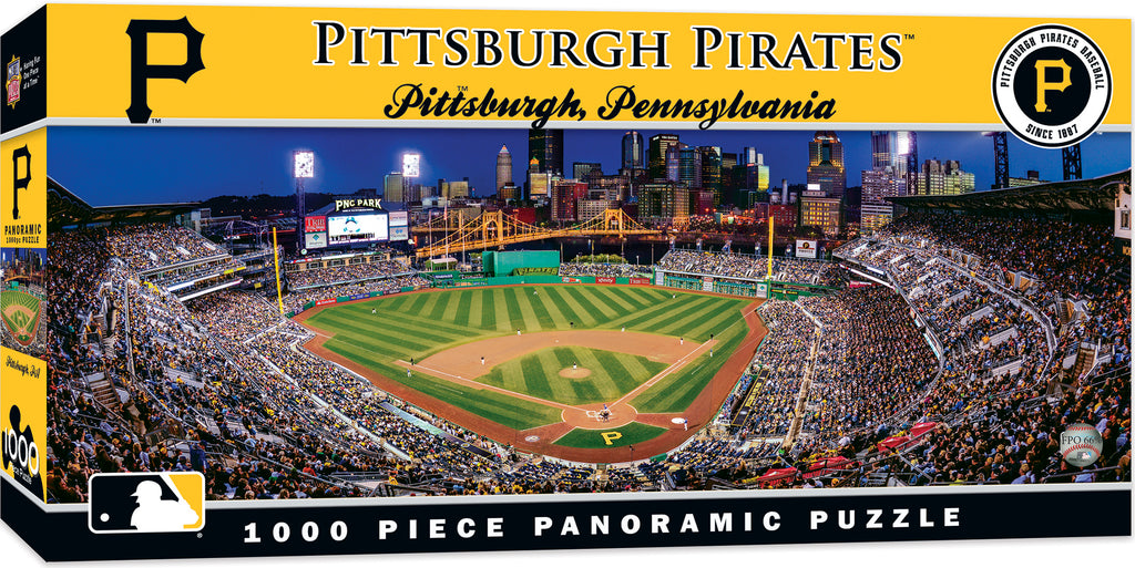 PITTSBURGH PIRATES PANORAMIC JIGSAW PUZZLE MLB 1000 PC PNC PARK PENNSYLVANIA