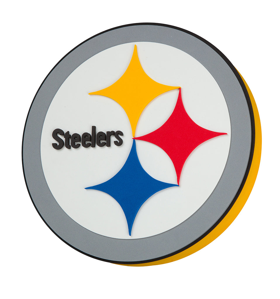 PITTSBURGH STEELERS 3D FOAM WALL LOGO ROUND SIGN FAN MANCAVE OFFICE SPORTS ROOM