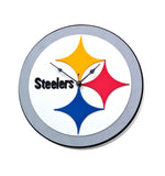 PITTSBURGH STEELERS 3D FOAM WALL CLOCK  DEN OFFICE MANCAVE SPORTS ROOM LOGO