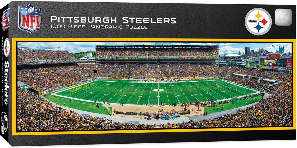 Pittsburgh Steelers Heinz Field Panoramic Jigsaw Puzzle 1000 Pc Nfl Stadium