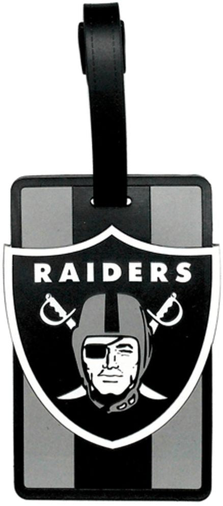OAKLAND RAIDERS SOFT BAG TAG FOOTBALL LUGGAGE NFL ID INFORMATION TRAVEL