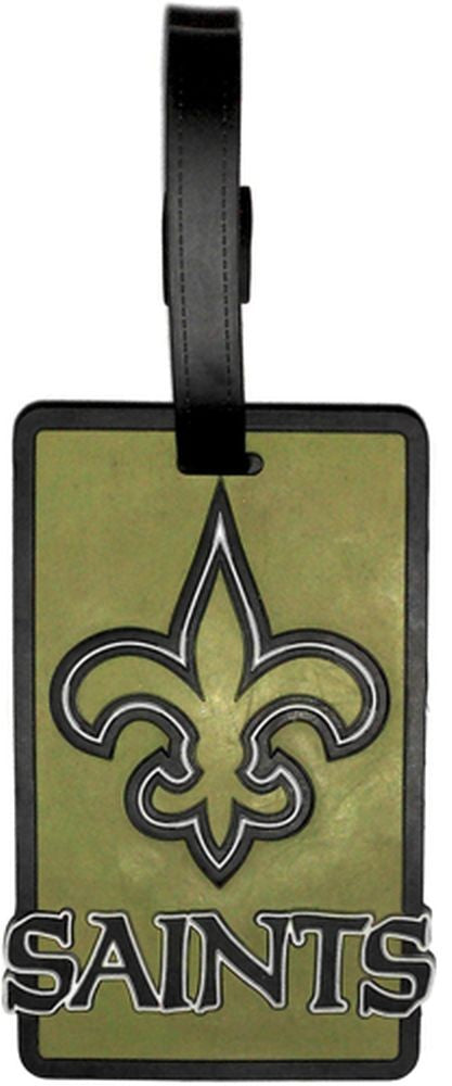 NEW ORLEANS SAINTS SOFT BAG TAG FOOTBALL LUGGAGE NFL ID INFORMATION TRAVEL