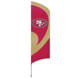SAN FRANCISCO 49ERS 8.5 FOOT TALL TEAM FLAG 11.5' POLE SIGN BANNER NFL