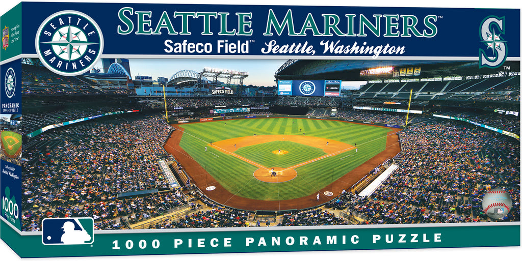 SEATTLE MARINERS PANORAMIC JIGSAW PUZZLE MLB 1000 PC SAFECO FIELD WASHINGTON