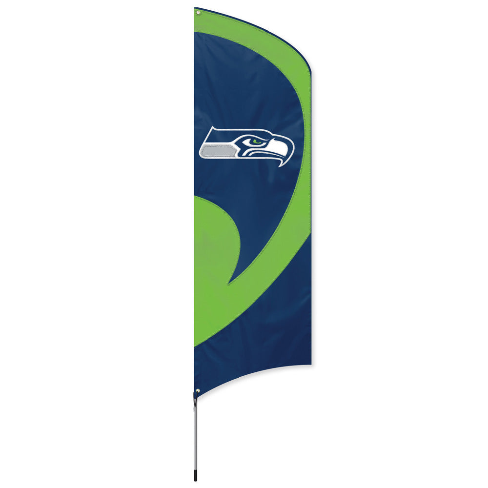SEATTLE SEAHAWKS 8.5 FOOT TALL TEAM FLAG 11.5' POLE SIGN BANNER NFL